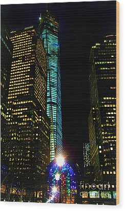 World Financial Center Wood Print by Mariola Bitner