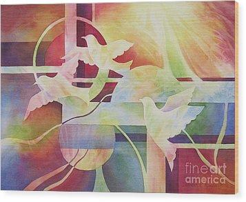 World Peace 2 Wood Print by Deborah Ronglien