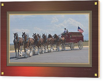 World Renown Clydesdales Wood Print