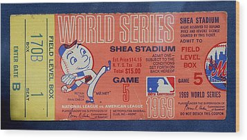 World Series Ticket Shea Stadium 1969 Wood Print