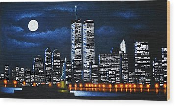 World Trade Center Buildings Wood Print
