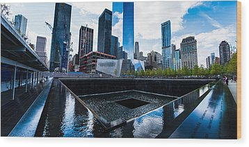 Wood Print featuring the photograph World Trade Center - North Memorial Pool by Chris McKenna