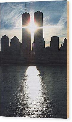 World Trade Center Towers Wood Print