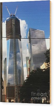Wood Print featuring the photograph World Trade Center Twin Tower by Susan Garren