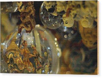 World Upside Down Wood Print by Money Sharma