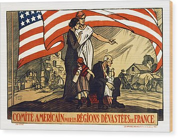 World War 1 Relief - France - 1917 Wood Print by Daniel Hagerman
