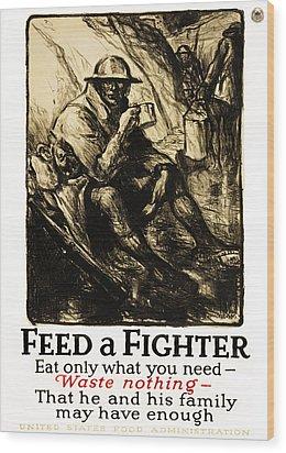World War 1 - U. S. War Poster Wood Print by Daniel Hagerman