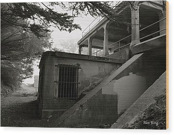 Wood Print featuring the photograph World War II Bunker by Alex King