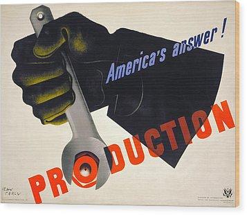 World War II Poster, 1941 Wood Print by Granger
