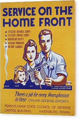 World War II Poster, C1943 Wood Print by Granger