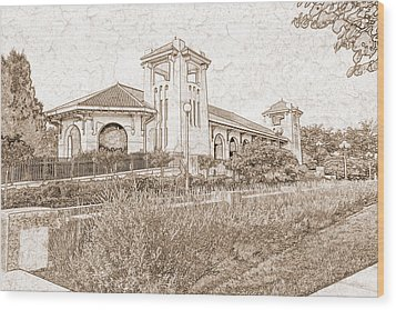 World's Fair Pavilion At Forest Park St Louis Wood Print