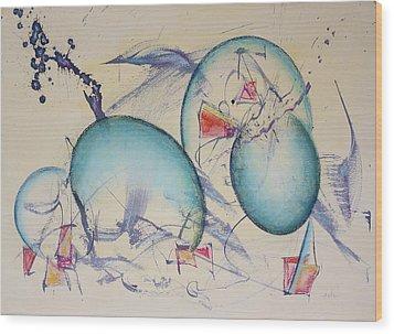 Worlds In Genesis Wood Print by Asha Carolyn Young