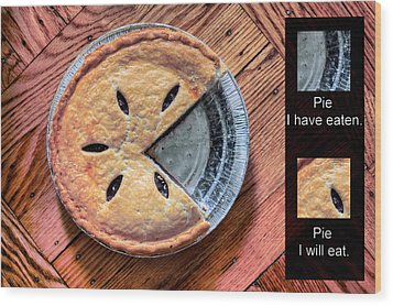 Worlds Most Accurate Pie Chart Wood Print by JC Findley