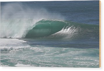 World's Most Perfect Wave . . . Wood Print by Kevin Smith