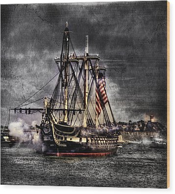 World's Oldest Commissioned Warship Afloat - Uss Constitution Wood Print by Ludmila Nayvelt
