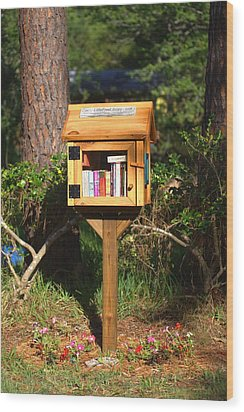 Wood Print featuring the photograph World's Smallest Library by Gordon Elwell