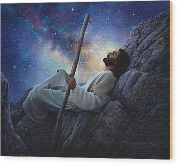 Worlds Without End Wood Print by Greg Olsen