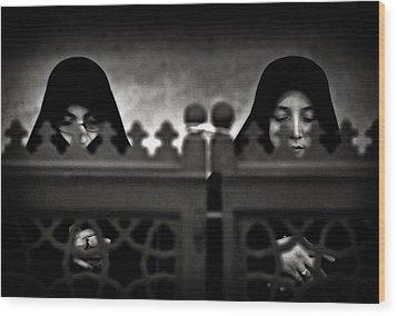 Worship Wood Print by Michel Verhoef