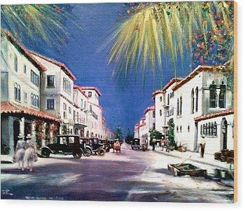 Worth Ave 1925 Wood Print
