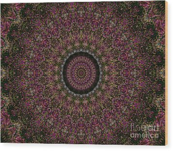 Woven Kaleidoscope Wood Print by R McLellan