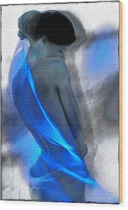 Wrapped In Blues Wood Print by Gun Legler