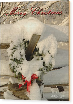 Wood Print featuring the photograph Wreath  by Alana Ranney