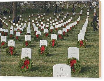 Wreaths Around America Wood Print
