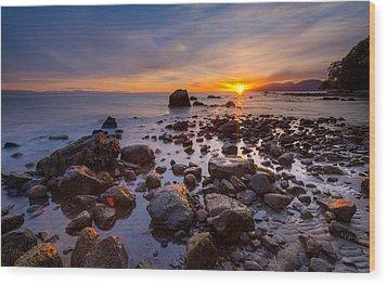 Wreck Beach Wood Print by Alexis Birkill
