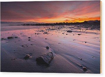 Wreck Beach Sunset Wood Print by Alexis Birkill
