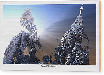 Wreck Of The Menger Wood Print by Hal Tenny