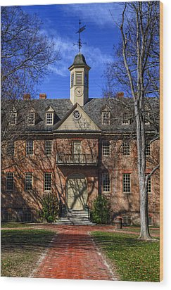 Wren Building Main Entrance Wood Print by Jerry Gammon