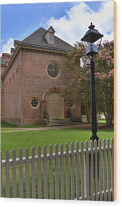 Wren Chapel At William And Mary Wood Print by Jerry Gammon