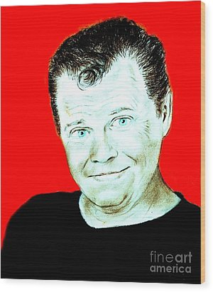 Wrestling Legend Jerry The King Lawler II Wood Print by Jim Fitzpatrick