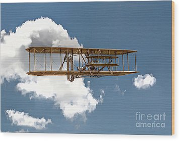 Wright Brothers First Flight Wood Print by Randy Steele