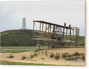 Wright Brothers Memorial At Kitty Hawk Wood Print