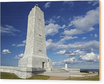 Wright Brothers Memorial D Wood Print by Greg Reed