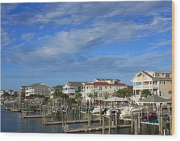 Wrightsville Beach - North Carolina Wood Print by Mountains to the Sea Photo