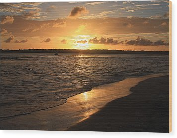Wood Print featuring the photograph Wrightsville Beach Sunset - North Carolina by Mountains to the Sea Photo