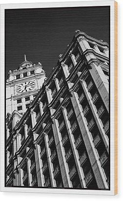 Wrigley Building - 05.16.10_144 Wood Print by Paul Hasara
