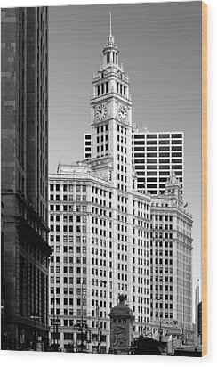 Wrigley Building - A Chicago Original Wood Print by Christine Till