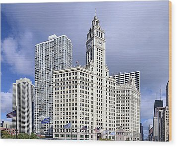 Wrigley Building Chicago Wood Print by Christine Till