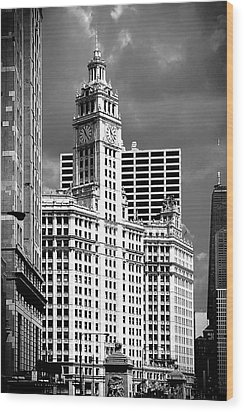 Wrigley Building Chicago Illinois Wood Print
