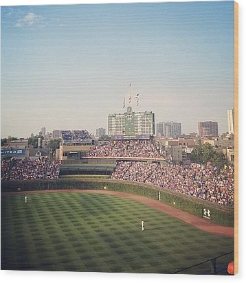 Wrigley Wood Print by Mike Maher
