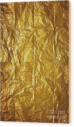 Wrinkled Paper Wood Print by Carlos Caetano