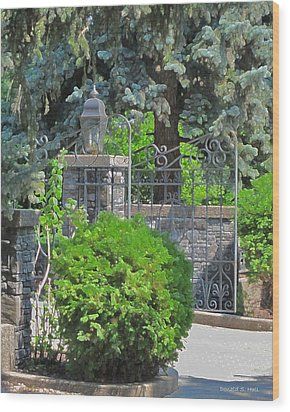 Wrought Iron Gate Wood Print by Donald S Hall