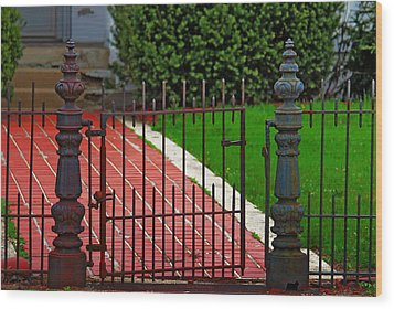 Wrought Iron Gate Wood Print by Rowana Ray