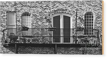 Wrought Iron Wood Print by Lawrence Burry