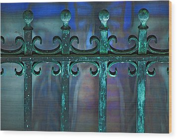 Wrought Iron Wood Print by Rowana Ray