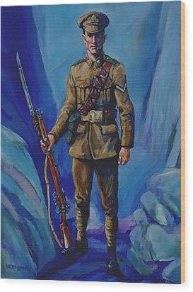 Ww 1 Soldier Wood Print by Derrick Higgins