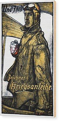 Wwi German Aviation War Bond Poster Wood Print by Historic Image